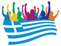 luftar den greece illustrationen royaltyfri illustrationer