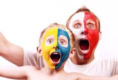 luftar den poland ståenden som skriker två ukraine Royaltyfri Foto