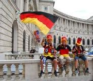 luftar det tyska fotbolllaget för fotboll Royaltyfria Foton