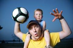 luftar fotbollfotboll Royaltyfria Foton