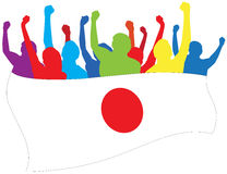 luftar illustrationen japan royaltyfri illustrationer