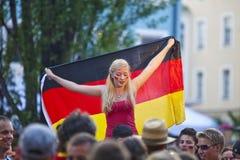 luftar tysk offentlig visning Arkivbild