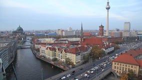 Luftaufnahme über Berlin stock video