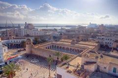 Luftaufnahme über die große Moschee in Sousse Stockbilder