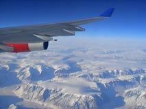 Luftaufnahme über Grönland Stockbild