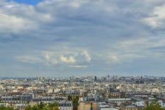 Luftaufnahme über Paris, Frankreich lizenzfreie stockfotos