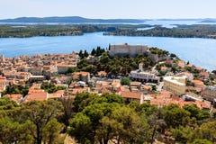 Luftaufnahme über Schloss des Heiligen Michael Lizenzfreie Stockfotografie