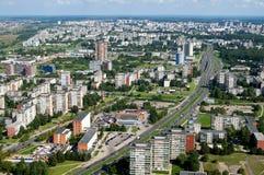 Luftaufnahme über Wohnsiedlungwohnblöcke Stockfoto