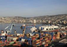 Luftaufnahme über Valparaiso, Chile Lizenzfreie Stockbilder