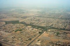 Luftaufnahme der ausbreitenden Stadt Lizenzfreies Stockbild