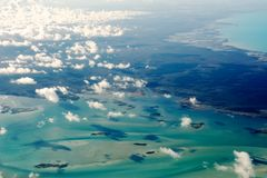 Luftaufnahme der Bahamas Lizenzfreies Stockbild