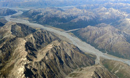 Luftaufnahme der Berge Stockfotografie