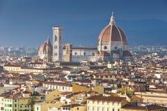 Luftaufnahme der Haube von Duomo stockfoto