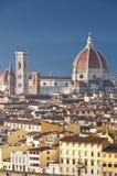 Luftaufnahme der Haube von Duomo stockfotos