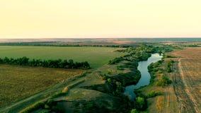 Luftaufnahme der Landschaft stock video footage