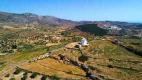 Luftaufnahme der Landschaft stock video