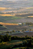 Luftaufnahme der Landwirtschaft und der Landwirtschaft von Queensland, Australien stockbild