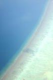 Luftaufnahme der Maldives stockbild