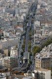 Luftaufnahme der Metros in Paris Stockfoto