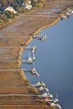 Luftaufnahme der privaten Docks lizenzfreies stockfoto