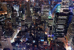 Luftaufnahme der städtischen Stadtarchitektur-Skyline Lizenzfreies Stockbild