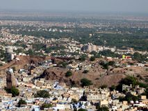 Luftaufnahme der Stadt - jodpur, Rajasthan Stockfoto