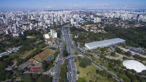 Luftaufnahme der Stadt von Sao-Paulo Lizenzfreie Stockfotografie