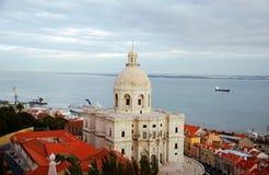 Luftaufnahme der weißen Kirche von Sankt Engracia Lizenzfreie Stockfotografie