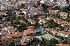 Luftaufnahme der Wohngebäude lizenzfreies stockfoto