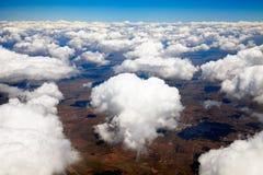 Luftaufnahme der Wolken Lizenzfreie Stockbilder