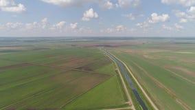 Luftaufnahme des Ackerlands stock video footage