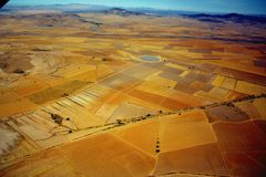 Luftaufnahme des Bauernhofes Stockfotografie