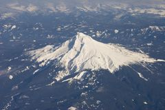 Luftaufnahme des Berges Stockbild