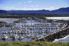 Luftaufnahme des Bootshafens Stockbild