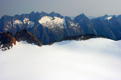 Luftaufnahme des Denver-Gletschers Stockbild