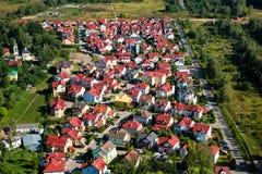 Luftaufnahme des Dorfs Stockbilder