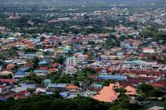 Luftaufnahme des Dorfs Lizenzfreie Stockfotografie