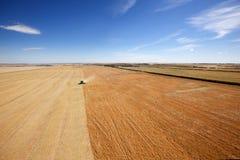 Luftaufnahme des Erntens Lizenzfreies Stockbild