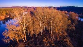 Luftaufnahme des Flusses Stockbilder