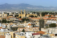 Nördlicher Teil von Nikosia, Zypern, Luftaufnahme Stockfotos