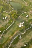 Luftaufnahme des Golfplatzes Stockfotografie