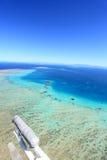 Luftaufnahme des großen Wallriffs Stockbild