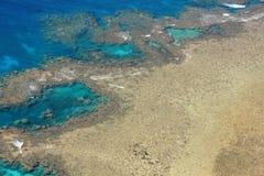 Luftaufnahme des großen Wallriffs Stockbilder