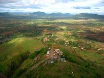 Luftaufnahme des indischen Dorfs Satara Lizenzfreies Stockfoto
