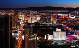 Luftaufnahme des Las- Vegasstreifens Stockfotografie