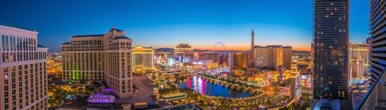 Luftaufnahme des Las- Vegasstreifens Lizenzfreie Stockfotos