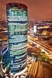 Luftaufnahme des Moskau-StadtGeschäftszentrums Stockfotografie
