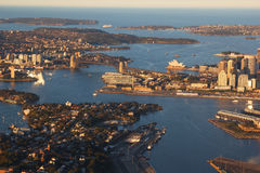 Luftaufnahme des Sydney-Hafens, Australien Lizenzfreie Stockbilder