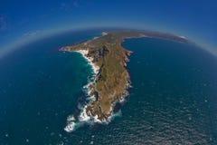 Luftaufnahme des Umhang-Punktes und Kap der guten Hoffnung lizenzfreies stockfoto