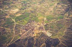 Luftaufnahme des Wohngebiets lizenzfreies stockfoto